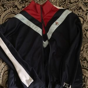 Womens fila track jacket xl